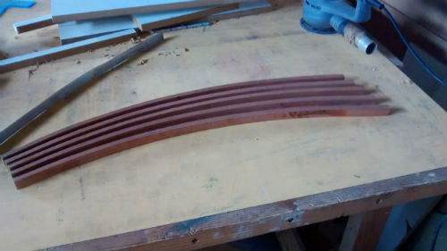 bicycle bent mahogany trial